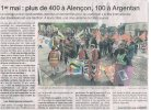 Article Ouest France (02/05/19) relatant la manifestation